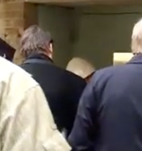 """WATCH: Protesters chase former NC Gov. Pat McCrory into an alley, shouting """"Shame on you, antigay bigot!"""""""