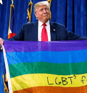 But of course Donald Trump is giving the commencement speech at a university that bans LGBTQ people