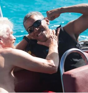 Budding bromance between Barack Obama and Richard Branson is pretty adorable