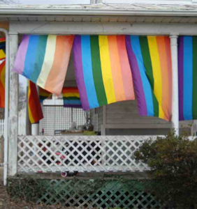 Someone dumped a dead cow in this woman's yard after she hung rainbow flags from her porch