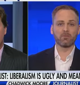 "Chadwick Moore, gay writer who ""came out"" as conservative, tells his story to Tucker Carlson"