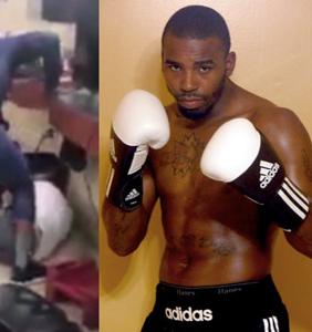 Gay boxer Yusaf Mack beats up homophobic Twitter troll inside barber shop