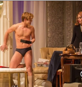 Journalist wants to know why Garrett Clayton is in his underwear so much in new play