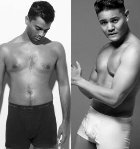 Hot Asian dudes strip down to recreate iconic underwear campaigns