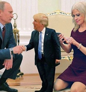Kellyanne Conway barefoot in the Oval Office memes are blowing up the Internet