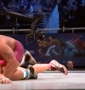 Is this the most homoerotic wrestling video of all time?