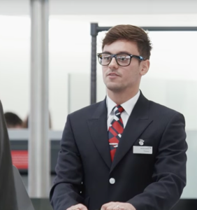 WATCH: Tom Daley goes deep undercover at the airport, confusion ensues