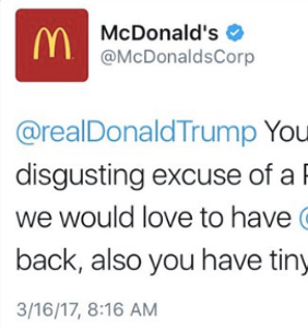 Trump supporters freaking out at McDonald's after hacker rips president on company's Twitter page