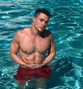 Colton Haynes just pushed his fiancee into a swimming pool