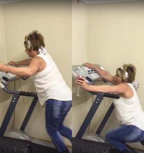 This is why you should never drink wine and run on a treadmill at the same time