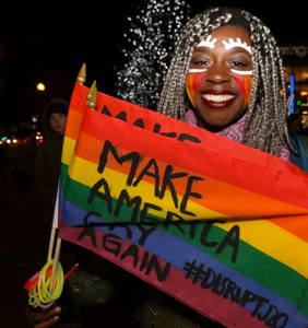 Queer dance party headed directly to Trump's house. Nope, not that Trump.