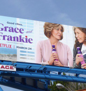 "Notice anything eye-raising about this ""Grace and Frankie"" billboard?"