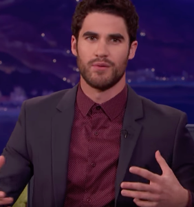 """That time Darren Criss """"put his head inside the mouth"""" of a gay adult film star"""