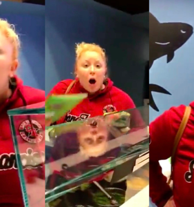 Behold the most epic, must-see public meltdown over a couple kissing ever