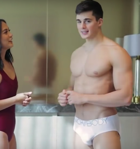 Pietro Boselli plays strip Rock, Paper, Scissors — and loses.