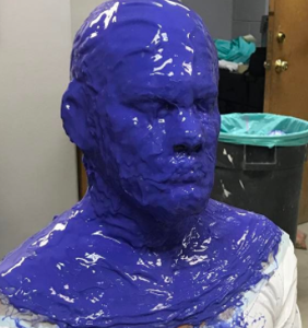 """Which actor just called Ryan Reynolds his """"b*tch"""" from beneath this blue goop?"""