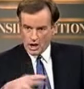 Here's Bill O'Reilly throwing an actual tantrum, for old times' sake