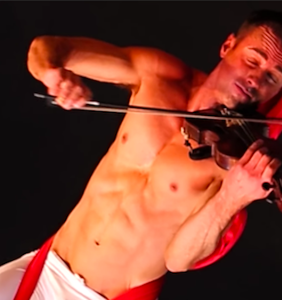 """Let Shirtless Violin Player covering Sia's """"Chandelier"""" into your dreams"""