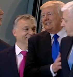 Another video of Trump being a total a-hole, shoving a Prime Minister out of his way for photo op