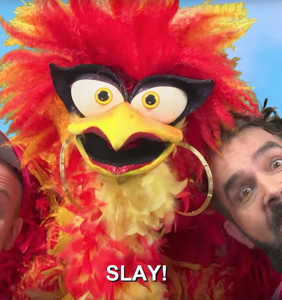 """""""Qweenz English"""" teaches the children vital vocab like """"slay"""" and """"KaiKai"""" (with puppets, naturally)"""