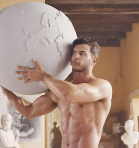 Yogurt commercial features sexy guy being very sexy, indeed