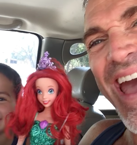 This dad's joyous reaction to his son's new doll is one for the ages