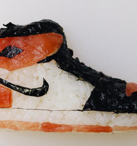 Drop everything and promptly get into these shoe-shaped sushi rolls