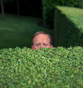 Hilarious memes of Sean Spicer hiding in the bushes will have you ROTFLOLing