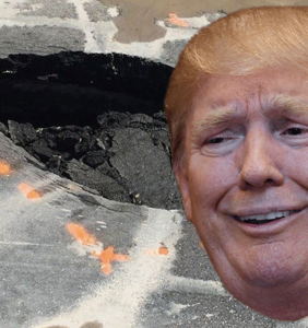 A sinkhole has opened up in front of Mar-a-Lago and Twitter can't even