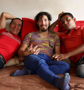 I do, I do, and I do! These three men just got legally married to each other