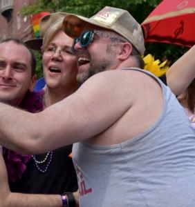 Elizabeth Warren dancing her way through Pride is about as cute as it gets