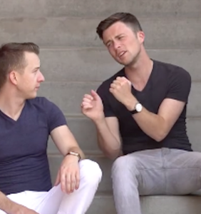 This gay couple announced their breakup by making a rap video, and… just no.