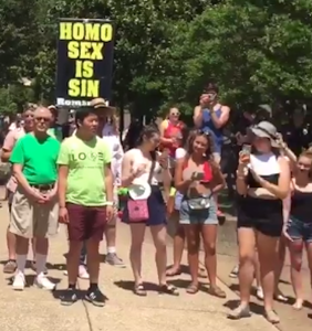 D.C. Gay Men's Chorus found the perfect way to deal with antigay street preachers