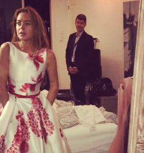 Lindsay Lohan pops up at a fabulous gay wedding in Iceland