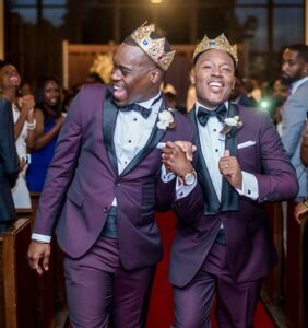 """These two guys found love in their college fraternity, and now they've said """"I do"""""""