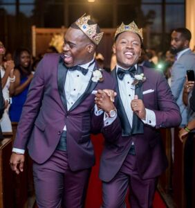 "These two guys found love in their college fraternity, and now they've said ""I do"""