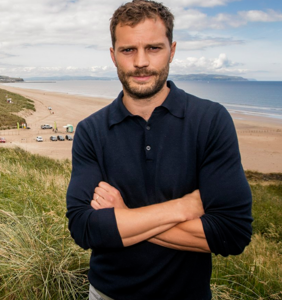 Is that a golf ball in Jamie Dornan's pocket or is he just happy to see us?