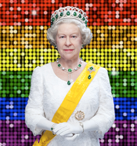 Queen Elizabeth never misses an episode of this reality game show hosted by a fabulous gay bear