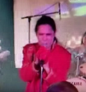 WATCH: Corey Feldman stops mid-concert to find the tooth he knocked out of his mouth