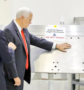 "Mike Pence ignored NASA ""Do Not Touch"" sign, and Twitter is letting him HAVE it"
