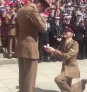 This soldier popped the question to his boyfriend at London Pride, and it's totally adorable