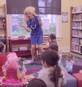 Fabulous New Orleans drag queen descends upon local library for children's story time