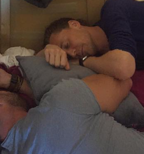 Chris Hemsworth loves to cuddle with Tom Hiddleston, and he's vers