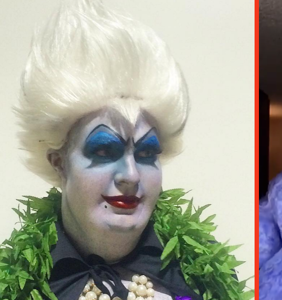The impossible has happened. Someone's shown up Colton Haynes' Ursula look.