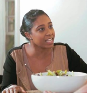 A clip of two dudes making love in front of a woman eating salad has the internet in a tizzy