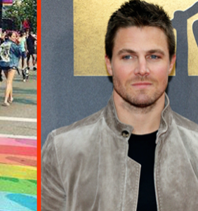 'Arrow' star Stephen Amell shows homophobic trolls how to be a real man