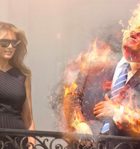 The Internet's very best responses to Donald Trump staring directly into the sun