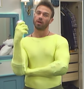 'Celebrity Big Brother' contestant forced into lycra bodysuit with no room for imagination