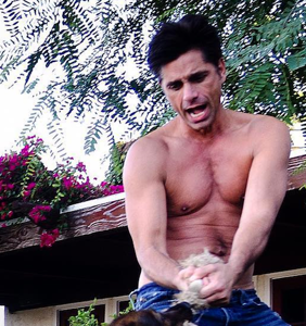 John Stamos celebrates turning 54 by stripping down once more, with feeling