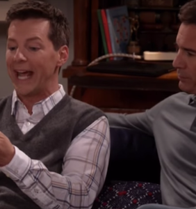 """New """"Will & Grace"""" promo features Jack using Grindr, worrying about """"finger herpes"""""""